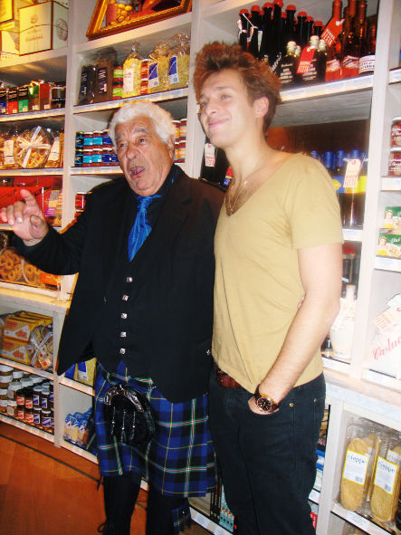 Paolo Nutini has a laugh with Antonio Carluccio at the opening of the Glasgow Caluccio's restaurant