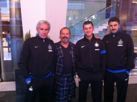 Michael Lemetti catches up with some of the Inter Milan squad before their game with Celtic in Glasgow 2012